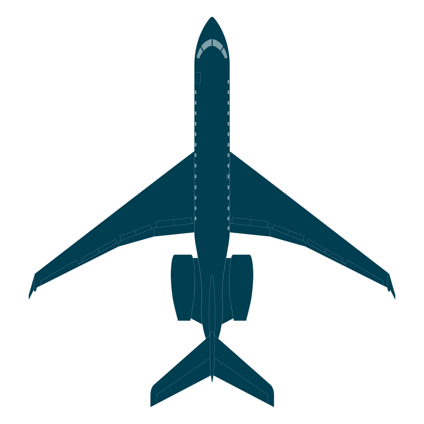 Global 6500 top view blueprint
