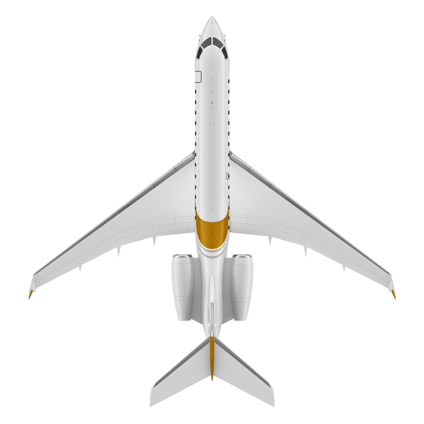 Global 6500 top view