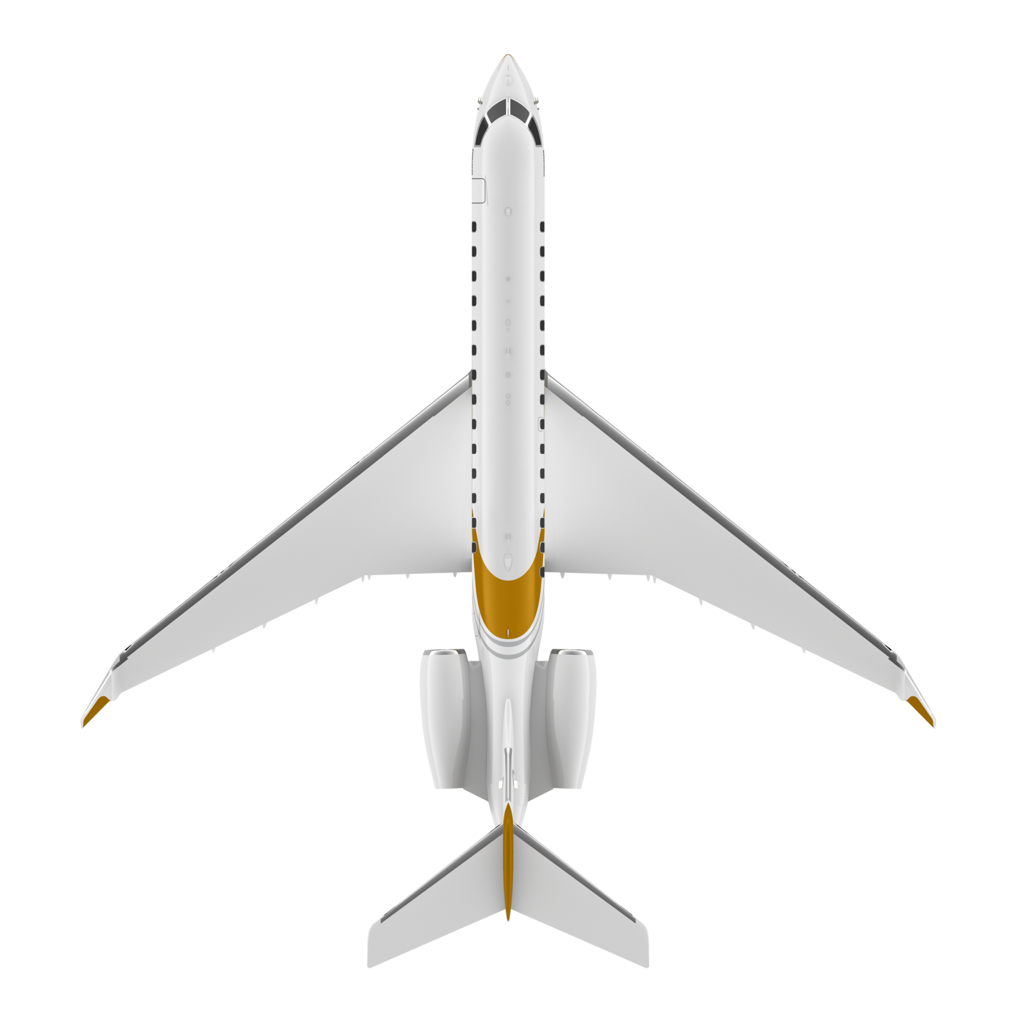 Global 7500 top view