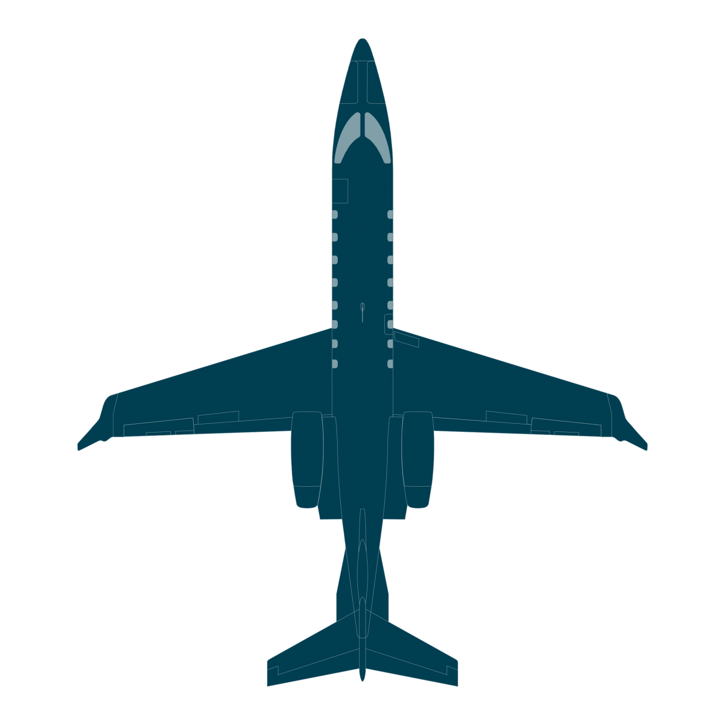 Learjet 75 Liberty Blueprint top
