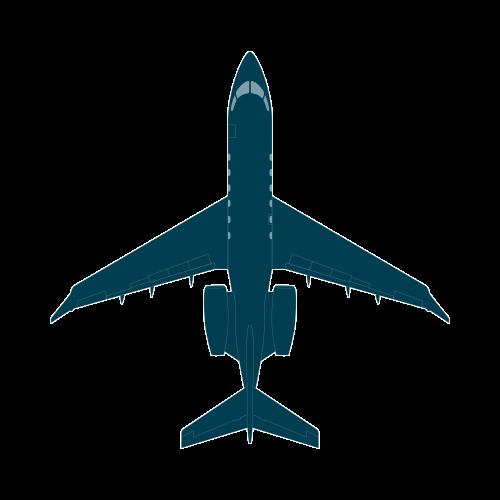 Challenger 350 top view CAD