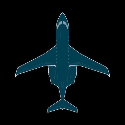 Challenger 650 top view CAD