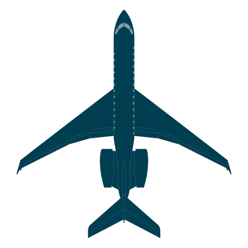 Global 6000 top view CAD