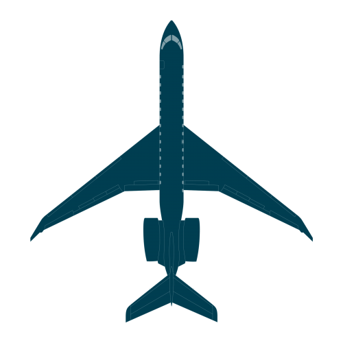 Global 7000 top view CAD