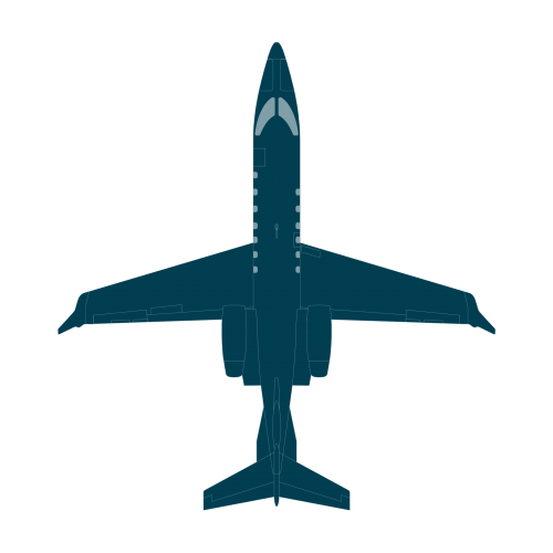 Learjet 70 top view CAD