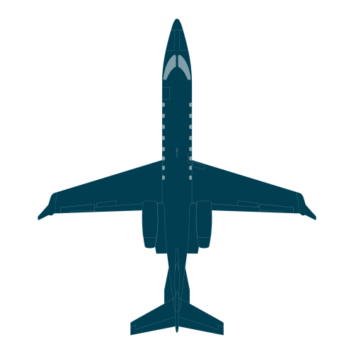 Learjet 75 top view CAD