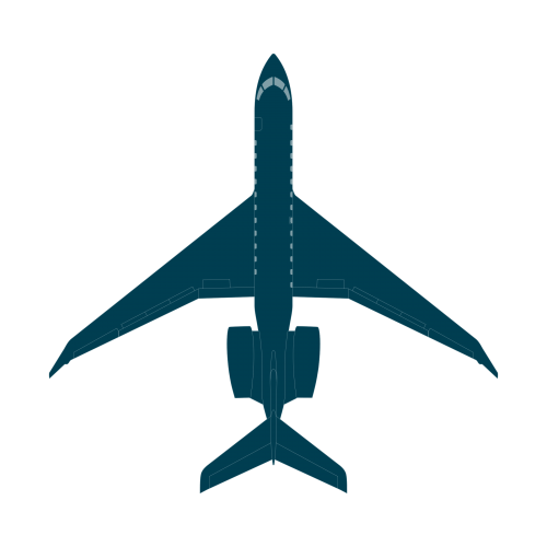 Global 8000 top view CAD