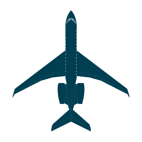 Global 5500 top view blueprint