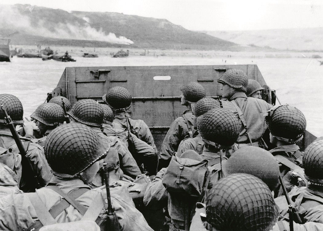 Soldiers in Normandy, France