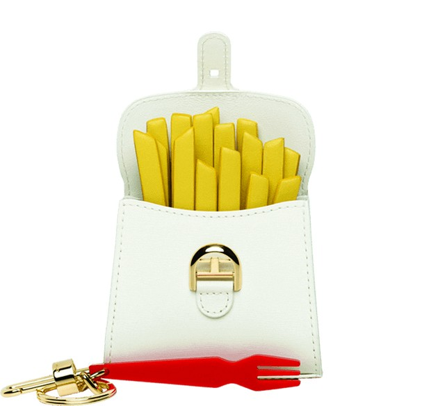 Fast food slow fashion: part of Delvaux's Miniatures Belgitude collection