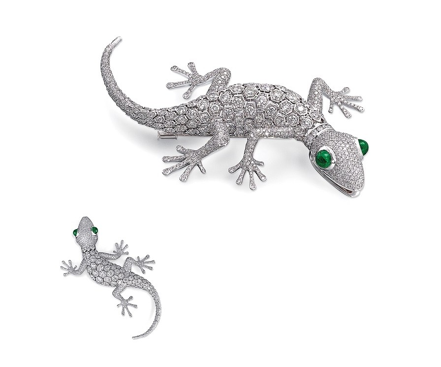 The emerald and diamond gecko