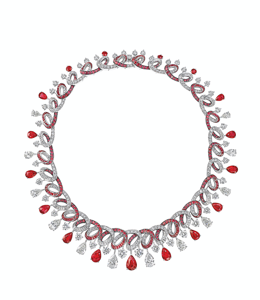 Graff's diamond and ruby necklace.