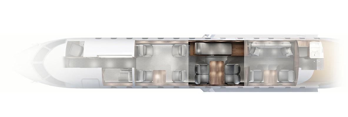 Nuage Chaise - Global 6000 Floor plan