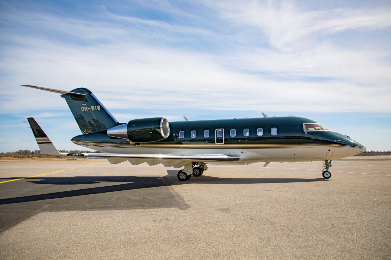 Challenger 650 aircraft, image courtesy of Jetflite.