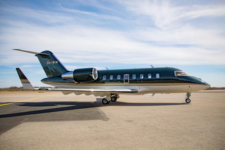 L'avion Challenger 650, image courtoisie de Jetflite.