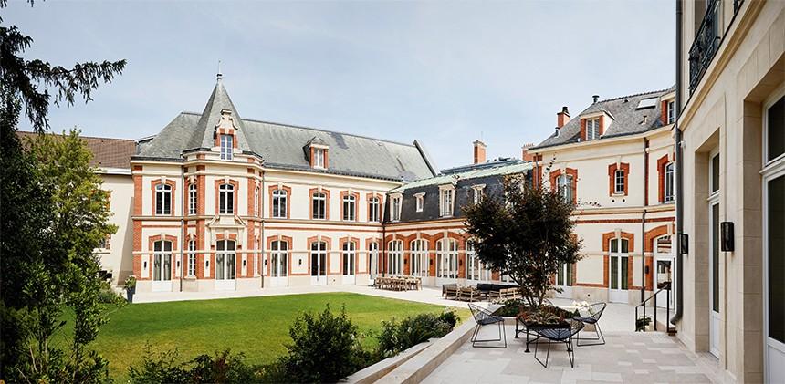 The Krug estate, located in Reims