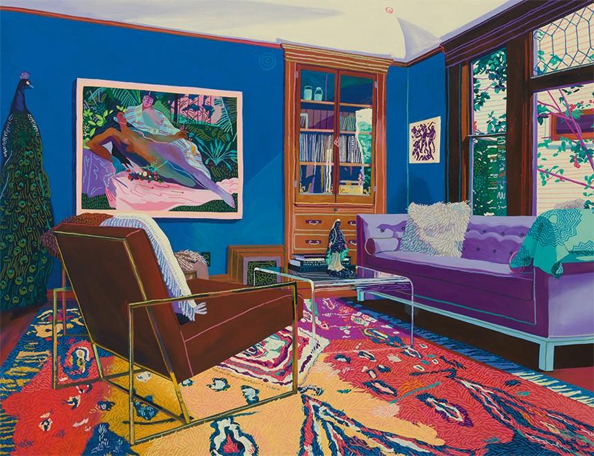 Andy Dixon, acrylique et pastel sur toile