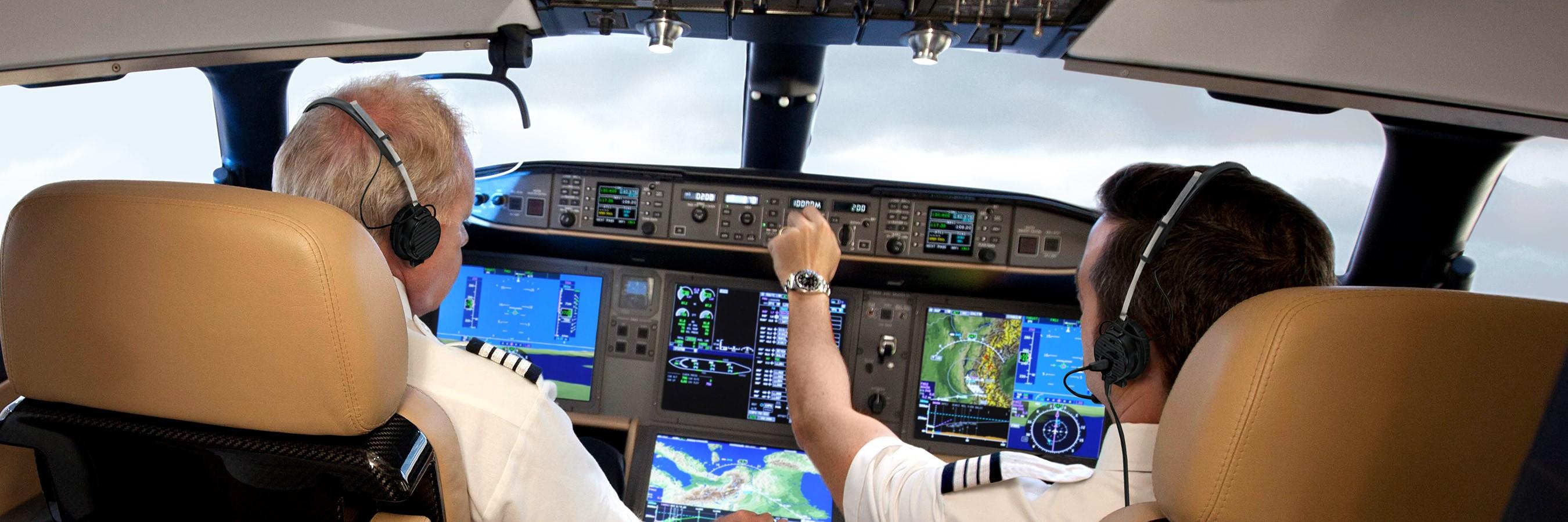 Global 8000 cockpit
