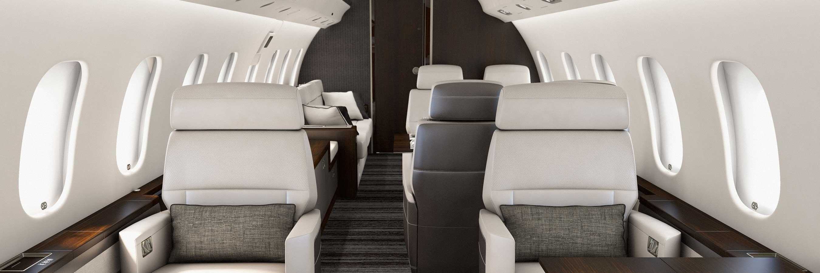 Global 6000 cabin forward