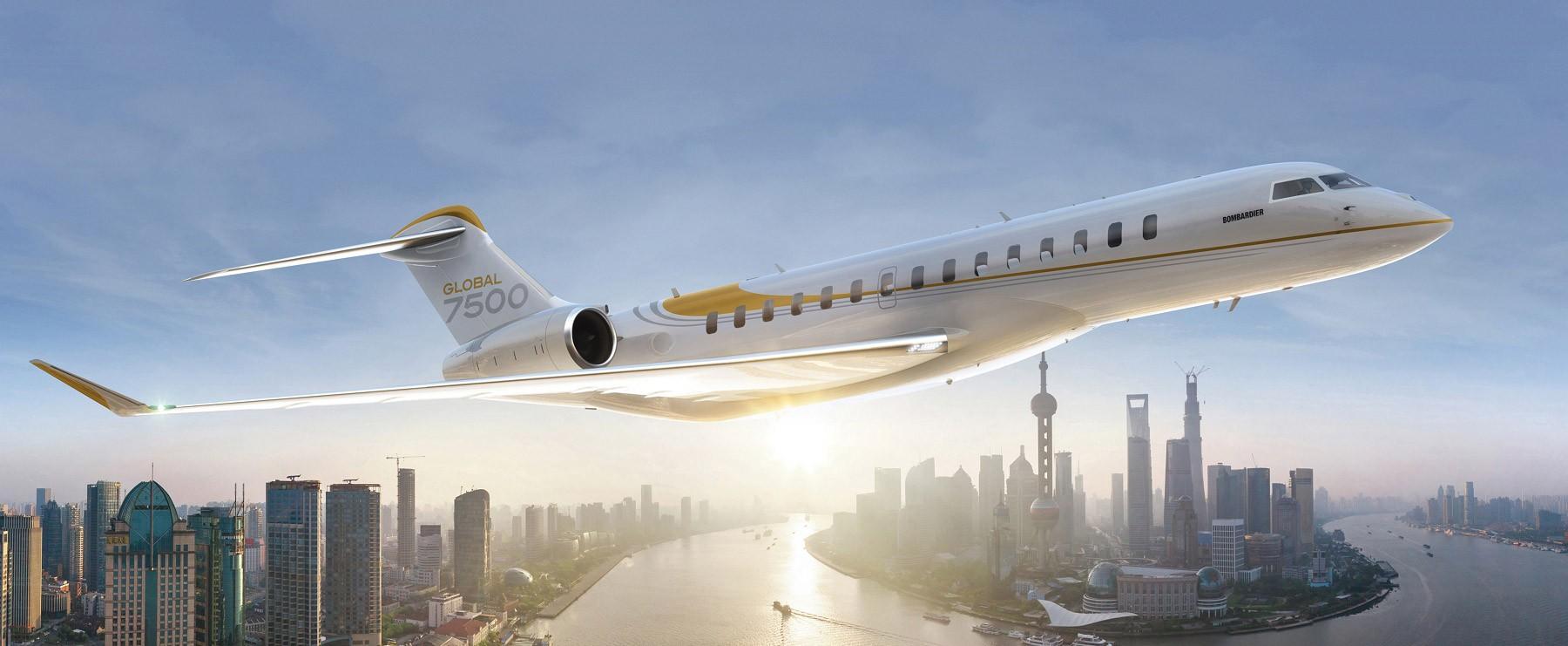 Global 7500 in flight