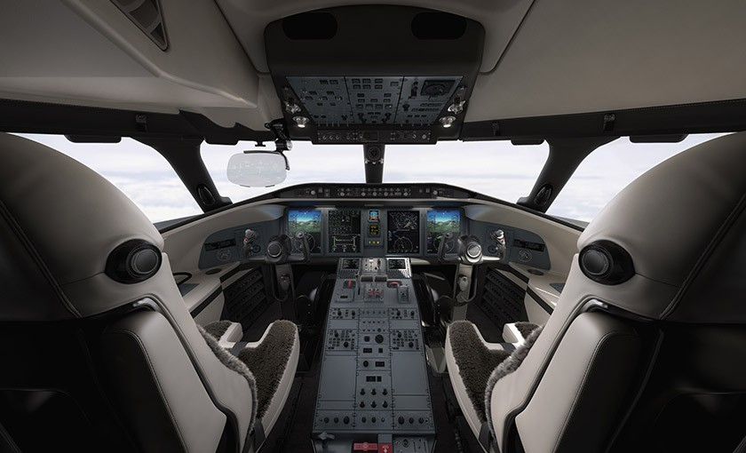 Challenger 650 cockpit