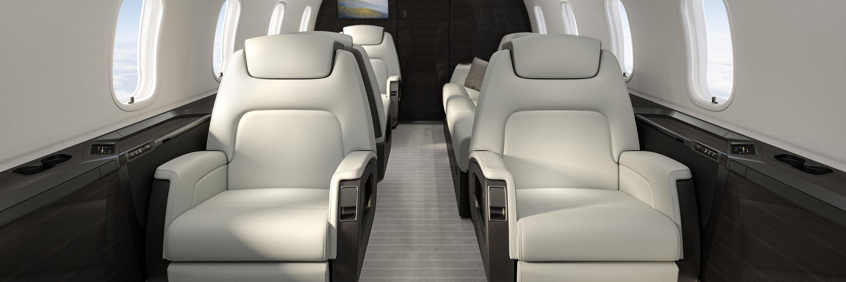 Challenger 350 cabin