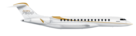 Global 7500 side view