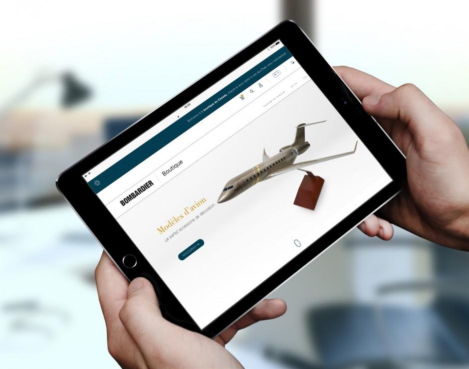 Boutique en ligne d'articles Bombardier